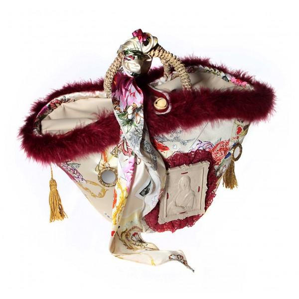 Coffarte - Medium Gioconda Coffa - Sicilian Artisan Handbag - Sicilian Coffa - Luxury High Quality Handicraft Bag