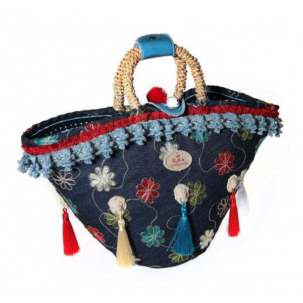 Coffarte - Medium Leoni Coffa - Sicilian Artisan Handbag - Sicilian Coffa - Luxury High Quality Handicraft Bag