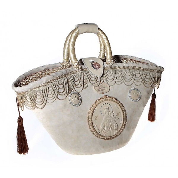 Coffarte - Medium Maria Regina Coffa - Sicilian Artisan Handbag - Sicilian Coffa - Luxury High Quality Handicraft Bag