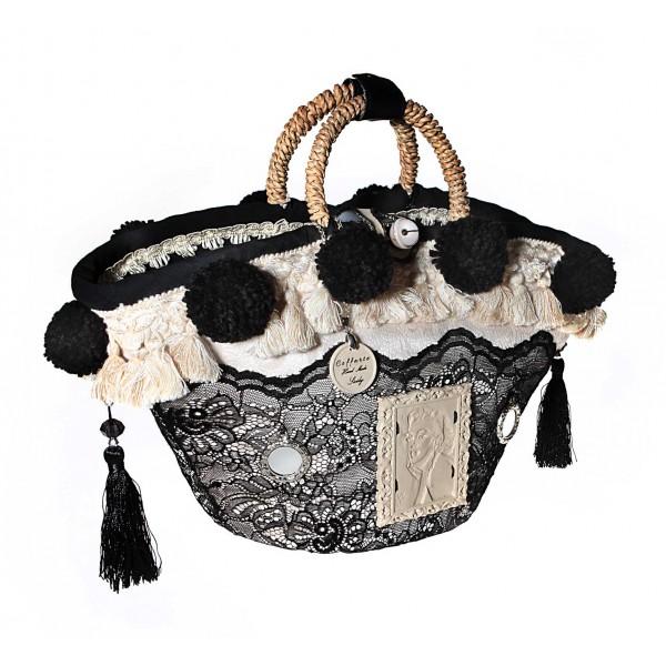 Coffarte - Medium Marilyn Monroe Coffa - Sicilian Artisan Handbag - Sicilian Coffa - Luxury High Quality Handicraft Bag