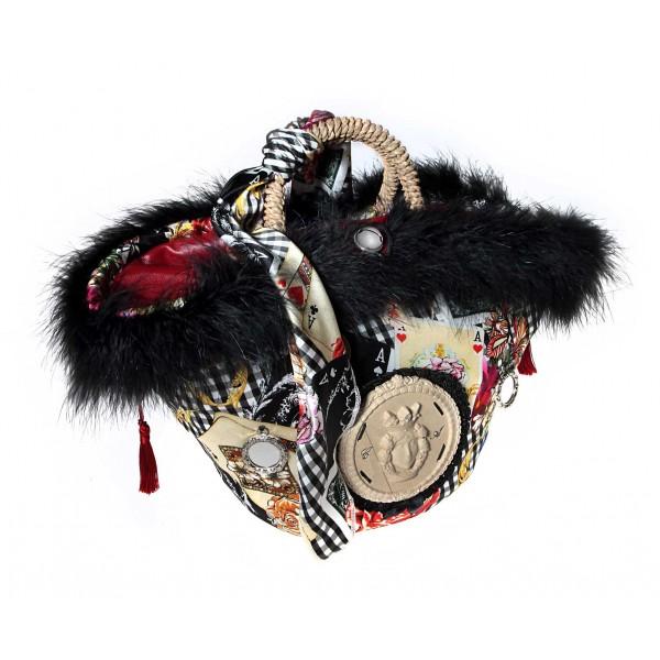 Coffarte - Medium Mora Coffa - Sicilian Artisan Handbag - Sicilian Coffa - Luxury High Quality Handicraft Bag