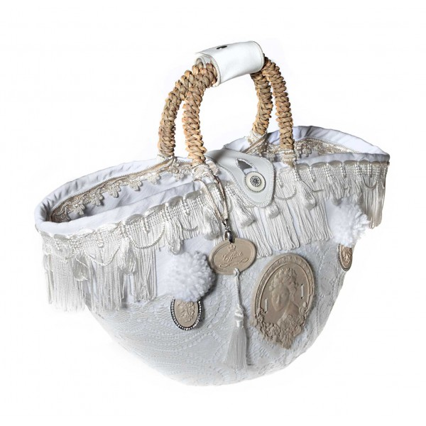 Coffarte - Medium Bridal Coffa - Sicilian Artisan Handbag - Sicilian Coffa - Luxury High Quality Handicraft Bag