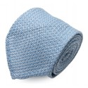 Serà Fine Silk - Light Blue Garza Grossa Grenadine - Silk Tie - Handmade in Italy - Luxury High Quality Tie