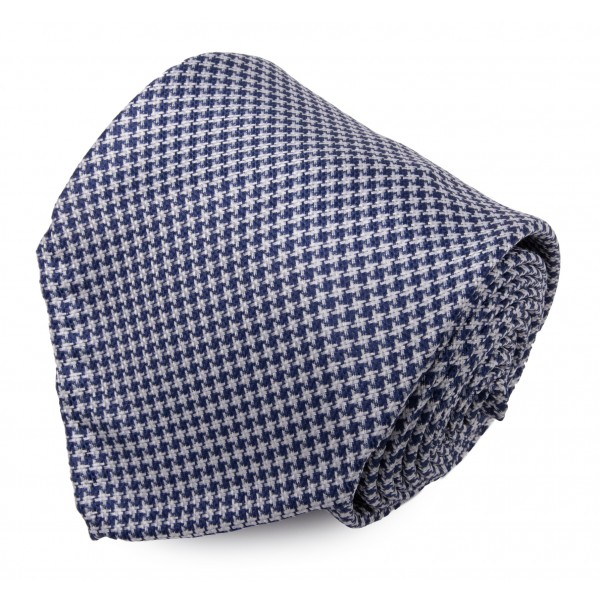 Serà Fine Silk - Pied de Poule - Cravatta in Seta - Handmade in Italy - Cravatta di Alta Qualità Luxury