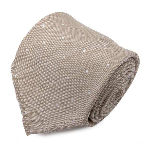 Serà Fine Silk - Sand Dots Jacquard - Silk Tie - Handmade in Italy - Luxury High Quality Tie