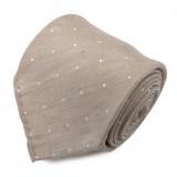 Serà Fine Silk - Sand Dots Jacquard - Cravatta in Seta - Handmade in Italy - Cravatta di Alta Qualità Luxury