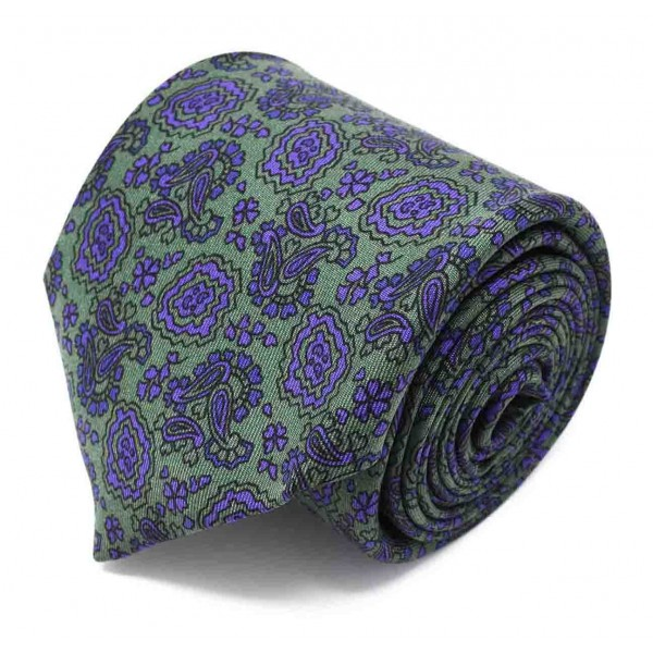 Serà Fine Silk - Pear Prosecco Pattern - Silk Tie - Handmade in Italy - Luxury High Quality Tie