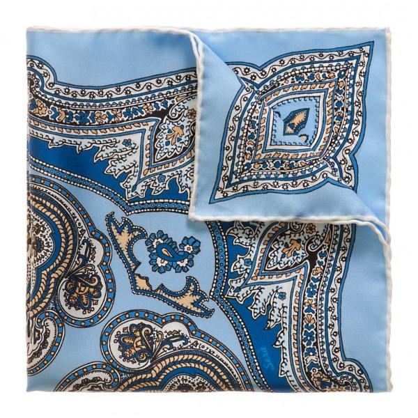 Serà Fine Silk - Capri - Silk Pocket Square - Handmade in Italy - Luxury High Quality Pocket Square