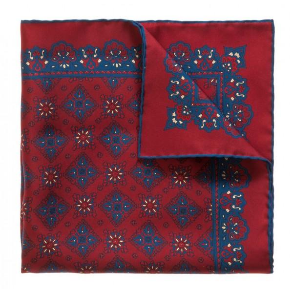 Serà Fine Silk - Cherry Amarone - Silk Pocket Square - Handmade in Italy - Luxury High Quality Pocket Square