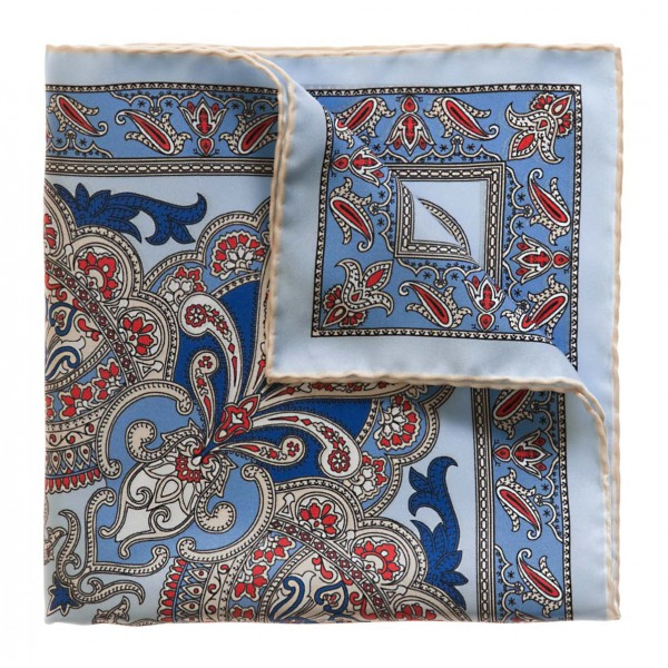 Serà Fine Silk - Torcello - Silk Pocket Square - Handmade in Italy - Luxury High Quality Pocket Square