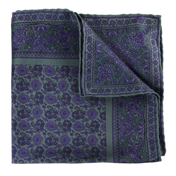 Serà Fine Silk - Pear Prosecco - Silk Pocket Square - Handmade in Italy - Luxury High Quality Pocket Square