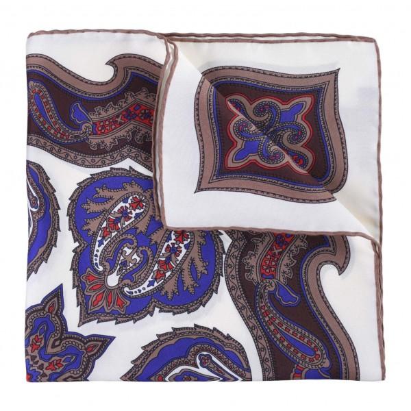 Serà Fine Silk - Vanilla Chianti - Silk Pocket Square - Handmade in Italy - Luxury High Quality Pocket Square