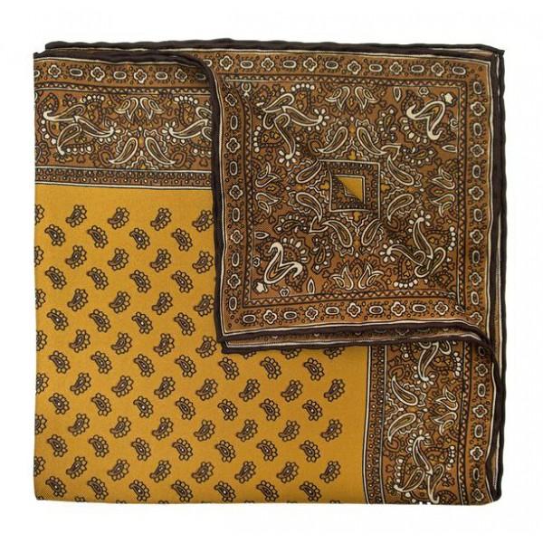 Serà Fine Silk - Almond Soave - Silk Pocket Square - Handmade in Italy - Luxury High Quality Pocket Square