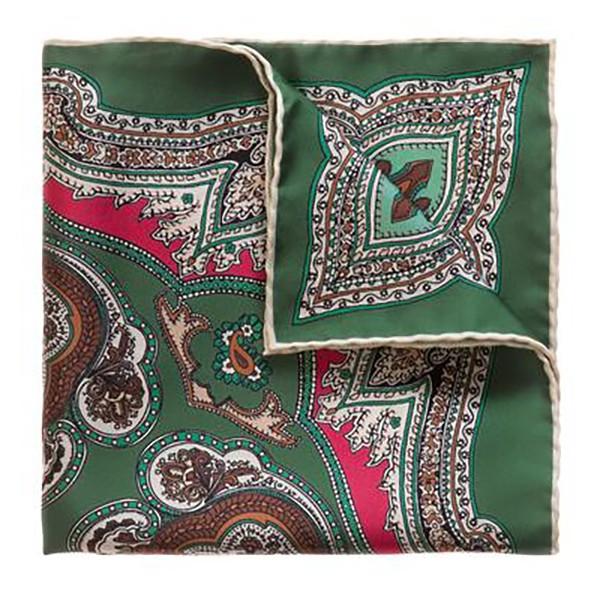 Serà Fine Silk - Lipari - Silk Pocket Square - Handmade in Italy - Luxury High Quality Pocket Square