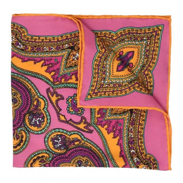 Serà Fine Silk - Positano - Silk Pocket Square - Handmade in Italy - Luxury High Quality Pocket Square