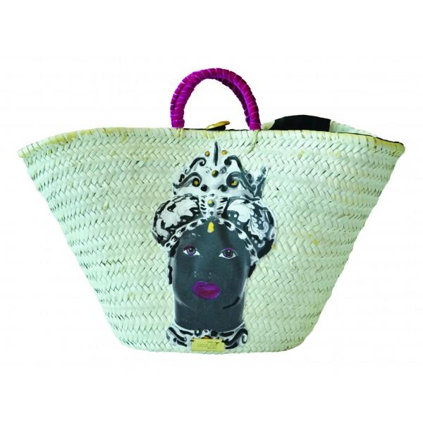 SicuLAB - Coffa White - Sicilian Artisan Handbag - Sicilian Coffa - Luxury High Quality Handicraft Bag