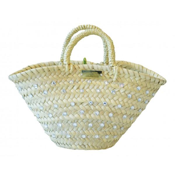 SicuLAB - Coffa Wedding Strass - Sicilian Artisan Handbag - Sicilian Coffa - Luxury High Quality Handicraft Bag