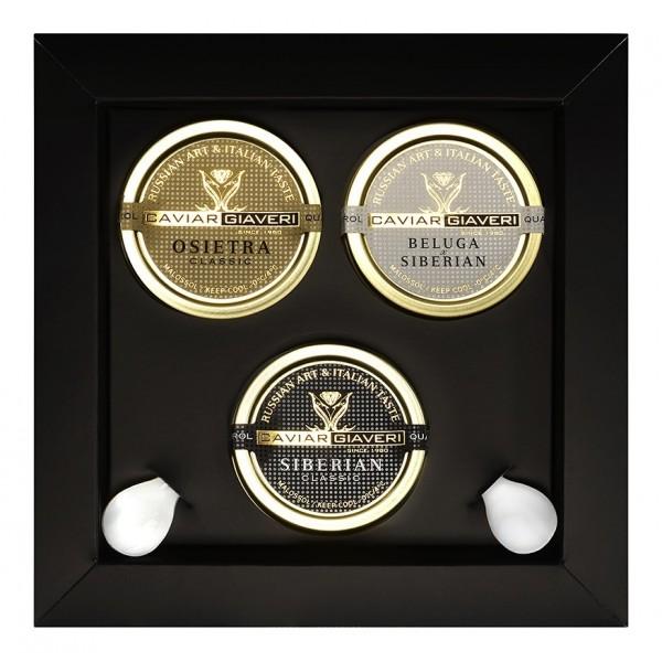 Caviar Giaveri - Caviale - Zar Trilogy Luxury Box - 3 x 30 g
