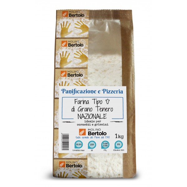 Molino Bertolo - Flour Type 0 - National Soft Wheat - 1 Kg