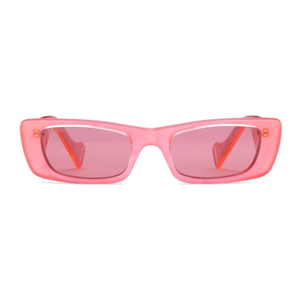 Gucci - Rectangular Sunglasses - Pink Fluo - Gucci Eyewear