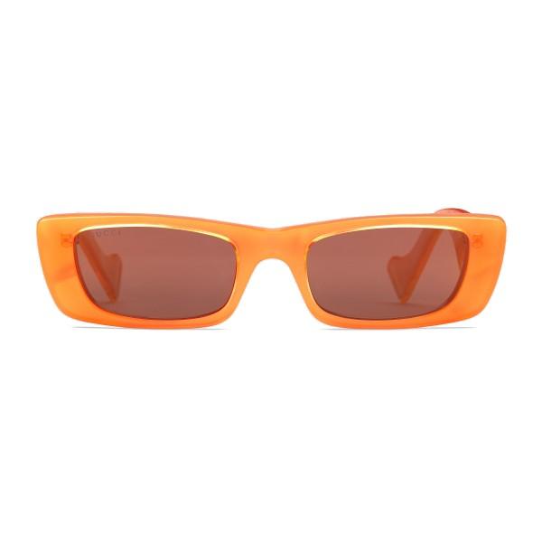 Gucci - Rectangular Sunglasses - Orange Fluo - Gucci Eyewear