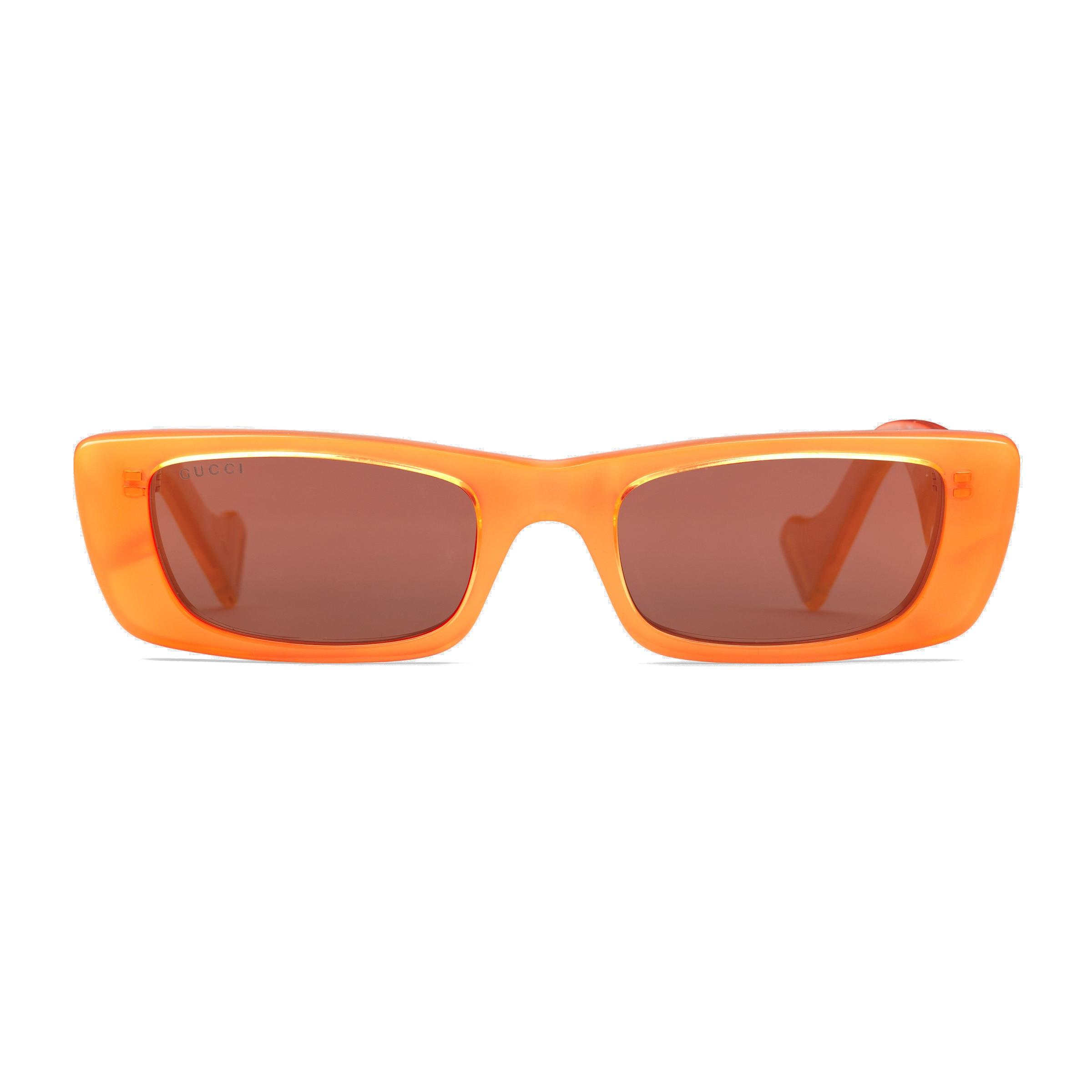be9aed1d Gucci - Rectangular Sunglasses - Orange Fluo - Gucci Eyewear ...