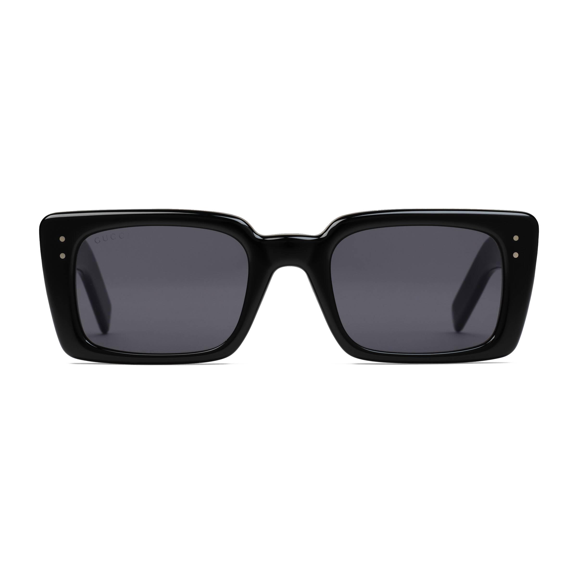 0af424762 Gucci - Rectangular Acetate Sunglasses - Black - Gucci Eyewear - Avvenice