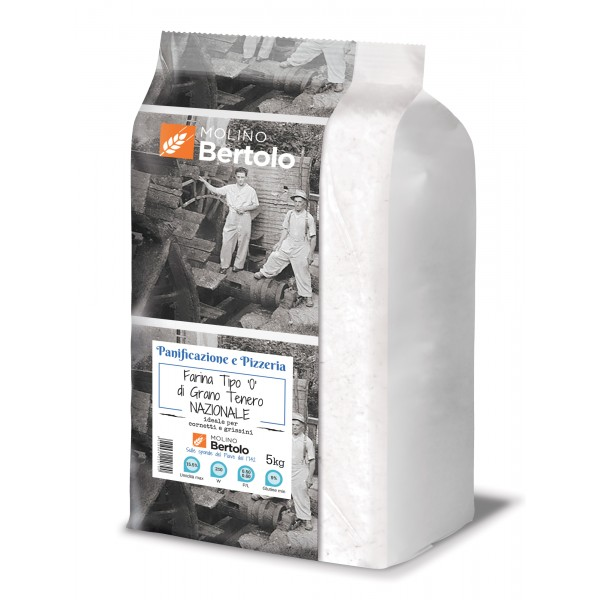 Molino Bertolo - Flour Type 0 - National Soft Wheat - 5 Kg