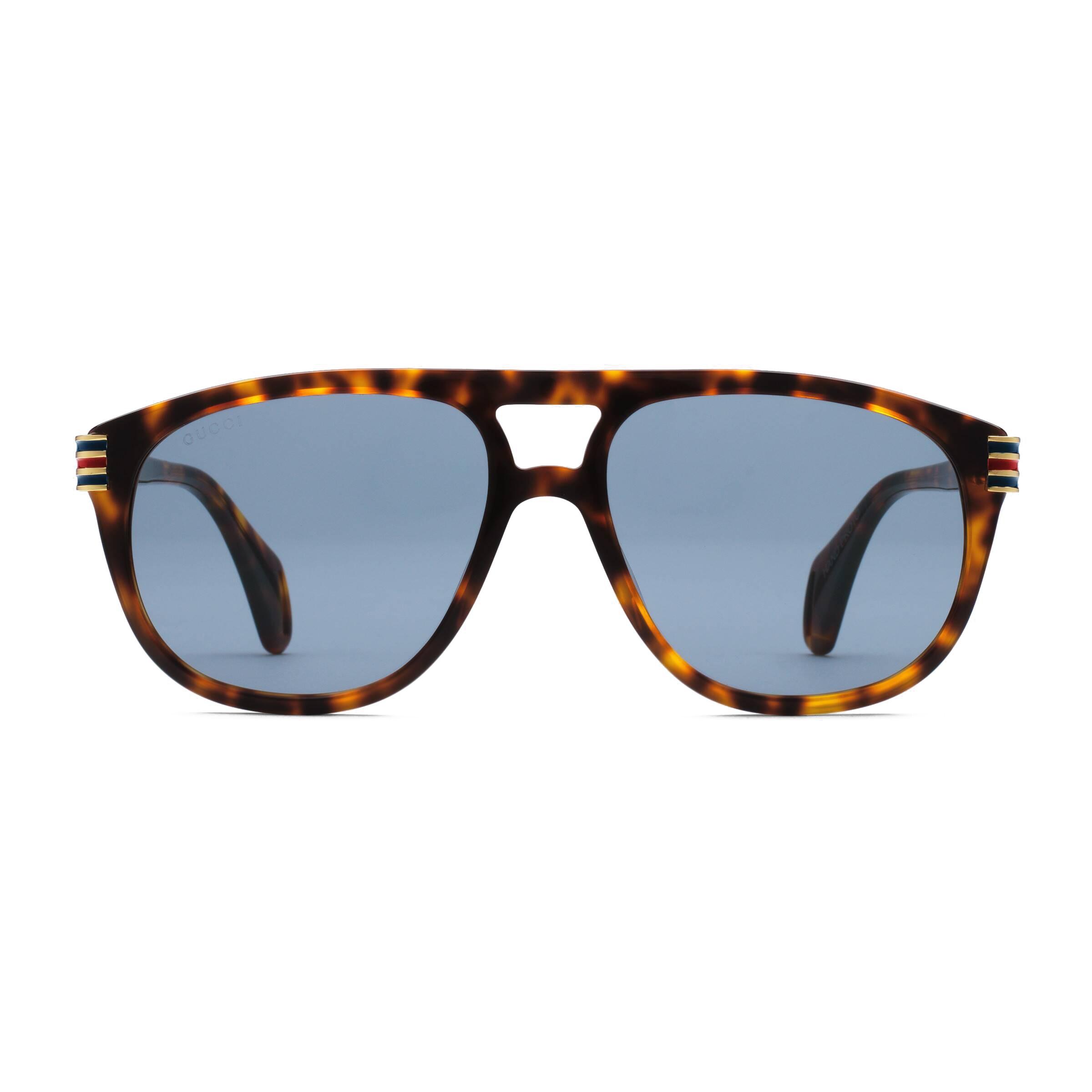 9028efaa8305 Gucci - Aviator Sunglassed with Web Enamel - Dark Turtle - Gucci Eyewear -  Avvenice