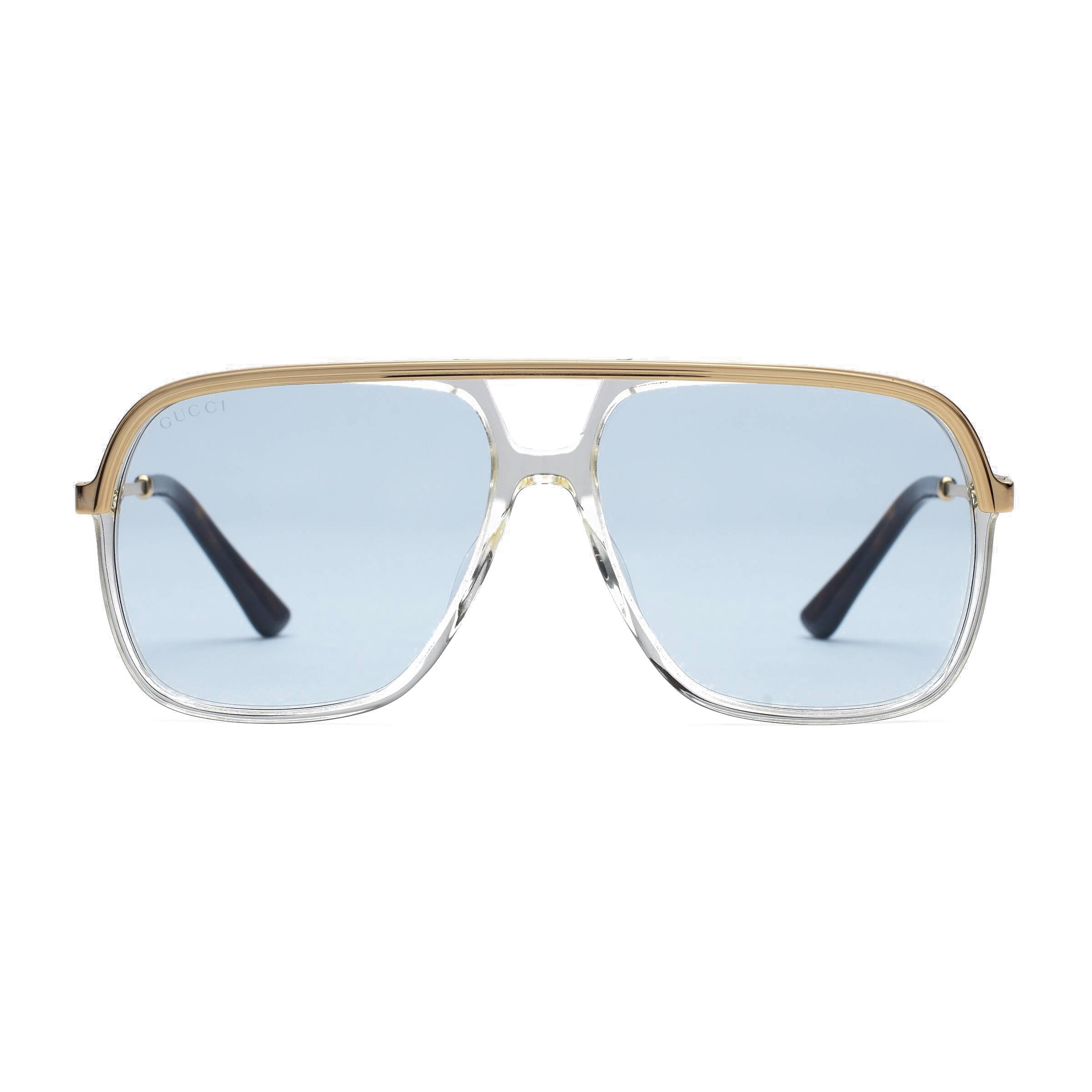 dd5194f3328f Gucci - Metal Rectangular Sunglasses - Pink Fluo - Gucci Eyewear - Avvenice