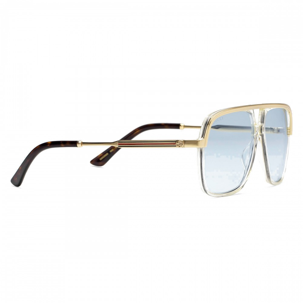 04fe63a76c9d ... Gucci - Metal Rectangular Sunglasses - Pink Fluo - Gucci Eyewear