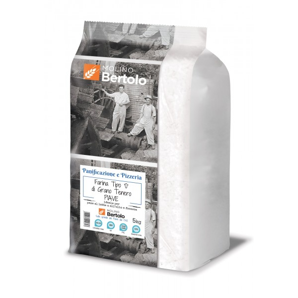 Molino Bertolo - Flour Type 0 - Soft Wheat Piave - 5 Kg