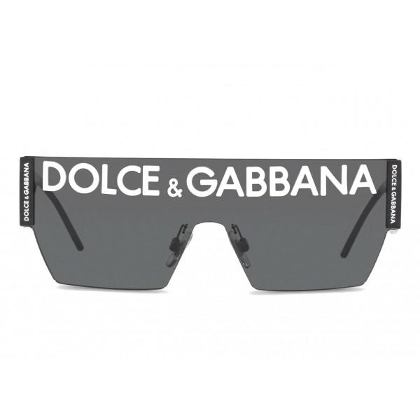Dolce & Gabbana Mask Sunglasses DG Logo Black Dolce & Gabbana Eyewear