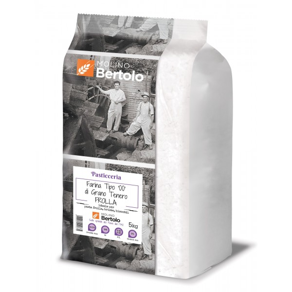 Molino Bertolo - Soft Wheat Type 00 - Shortcrust Flour - 5 Kg