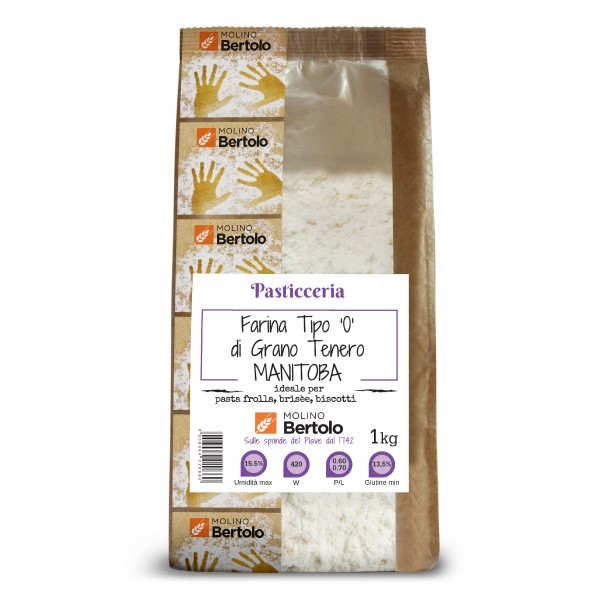 Molino Bertolo - Flour Type 00 - Soft Wheat Manitoba - 1 Kg