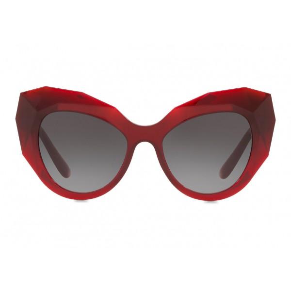 abedc3ff3005 Dolce & Gabbana - Cat Eye Sunglasses Stones & Logo Plaque - Red - Dolce & Gabbana  Eyewear - Avvenice