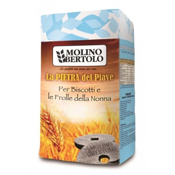 Molino Bertolo - La Pietra del Piave® Biscotti e Frolle - Farina di Grano Tenero Tipo 1 - 1 Kg