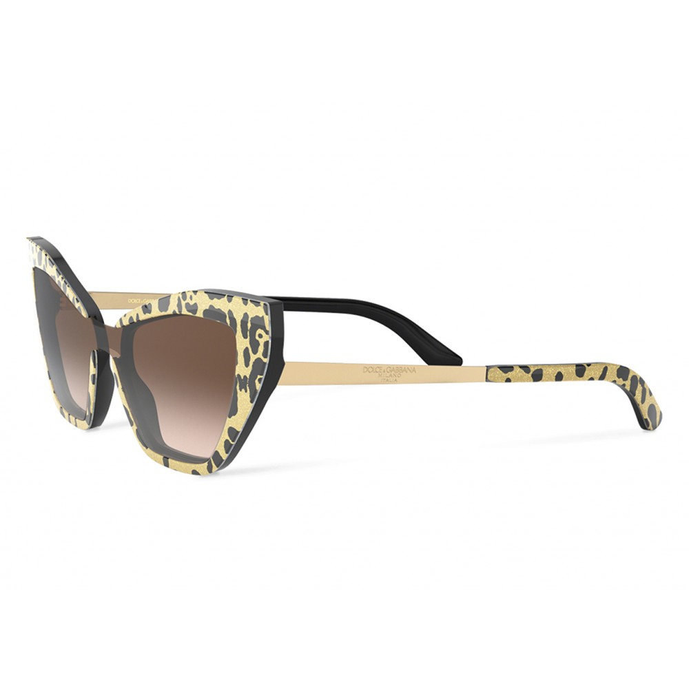 Sunglasses Dolceamp; Print Leo Gabbana Cat Family Eye Glitter 4A5jRL