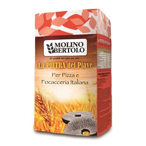Molino Bertolo - La Pietra del Piave® Pizze e Focacce - Farina di Grano Tenero Tipo 1 - 1 Kg