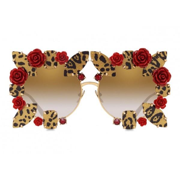 9b4e148b59df Dolce & Gabbana - DG Leo & Rose Sunglasses - Gold - Dolce & Gabbana Eyewear