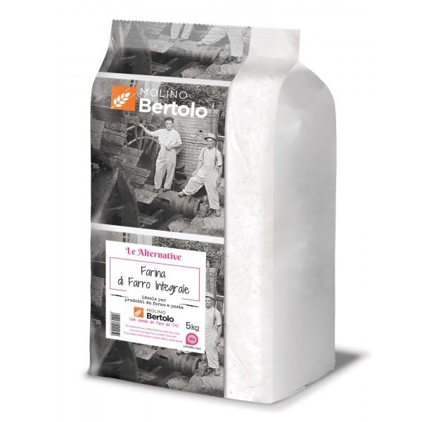 Molino Bertolo - Farina di Farro Integrale - 5 Kg