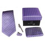 Cravates E.G. - Cravatta a Pois - Indaco