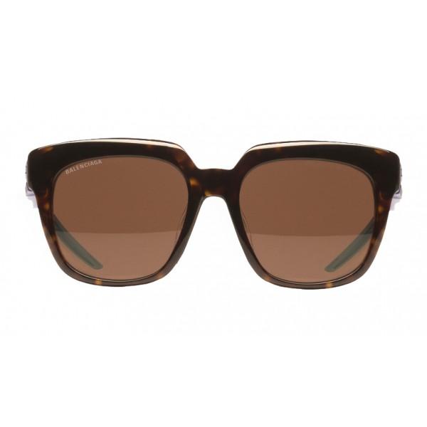 Balenciaga - Occhiali da Sole Hybrid D-Frame - Havana Scuro Blu - Occhiali da Sole - Balenciaga Eyewear