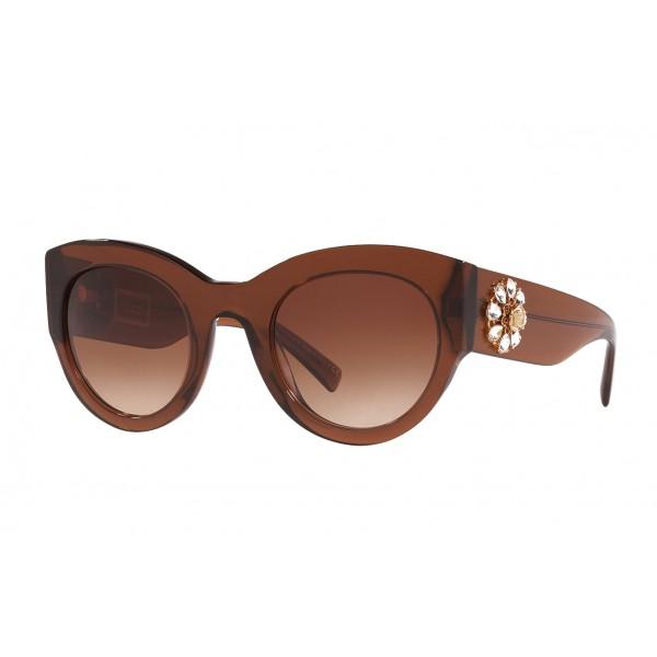 Versace - Occhiale da Sole Versace Tribute Jewel - Marroni - Occhiali da Sole - Versace Eyewear
