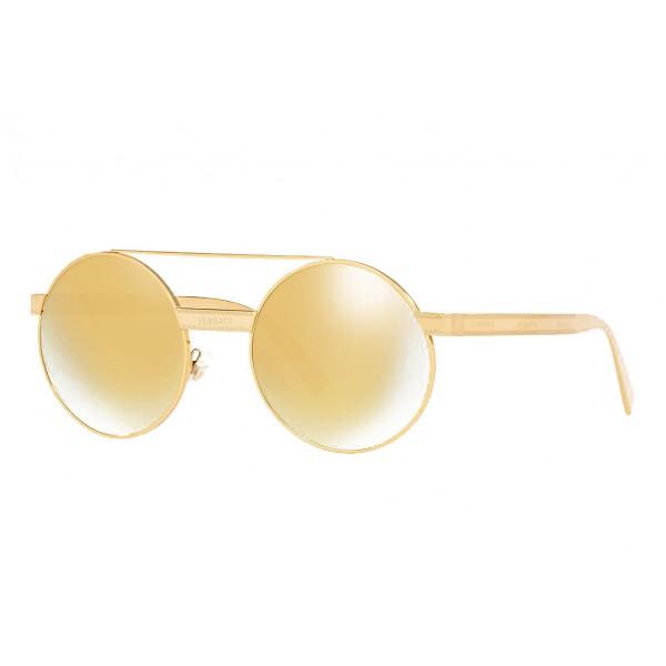Versace - Occhiale da Sole Versace Rotondi Logomania - Specchio - Occhiali da Sole - Versace Eyewear