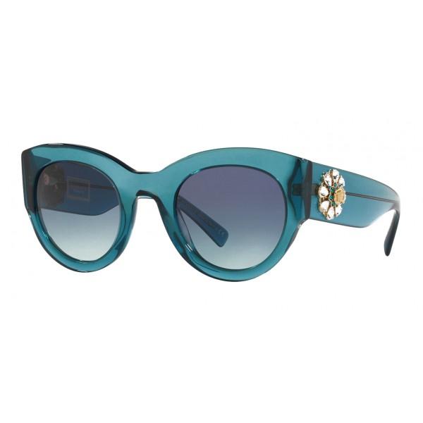 Versace - Occhiale da Sole Versace Tribute Jewel - Blu - Occhiali da Sole - Versace Eyewear
