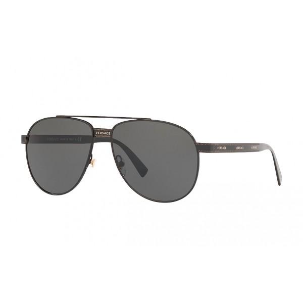 Versace - Occhiale da Sole Versace Pilot Logomania - Neri - Occhiali da Sole - Versace Eyewear
