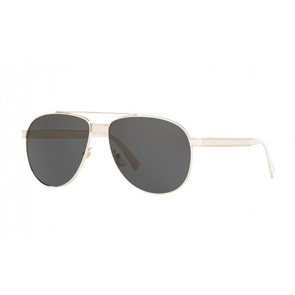 Versace - Occhiale da Sole Versace Pilot Logomania - Grigi - Occhiali da Sole - Versace Eyewear