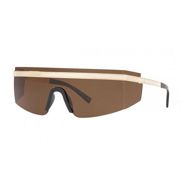 Versace - Occhiale da Sole Versace Logomania - Marrone - Occhiali da Sole - Versace Eyewear