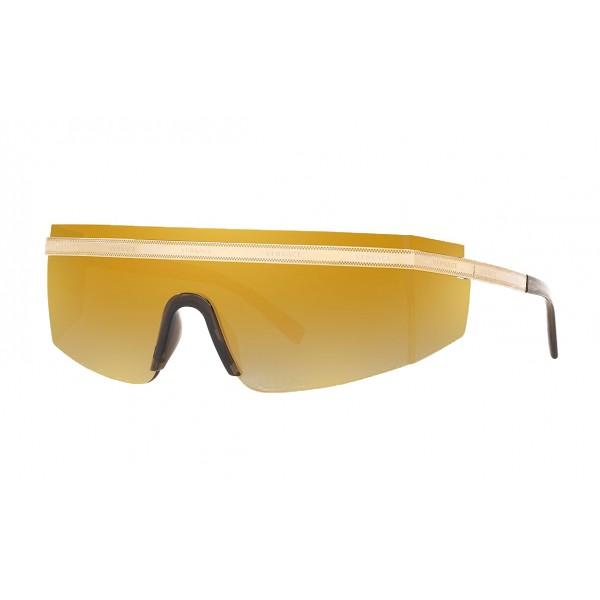 Versace - Occhiale da Sole Versace Logomania - Oro - Occhiali da Sole - Versace Eyewear